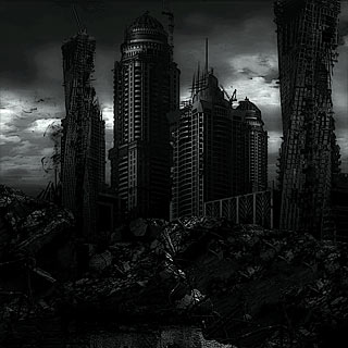 Defiant - Apocalyptic Ruined City Dark Death Metal Album Artwork