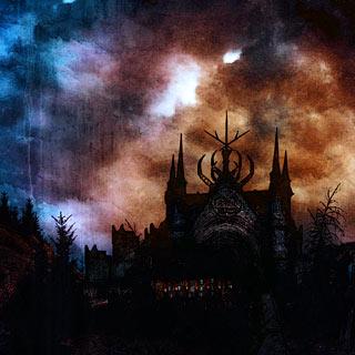 Hidden In Eternity - Black Metal Album Artwork with Dark Castle