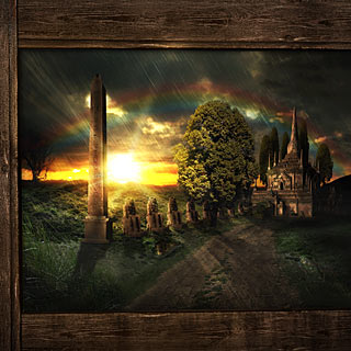 Room with the View - Fantasy Landscape and Ancient Castle Power Metal Album Artwork