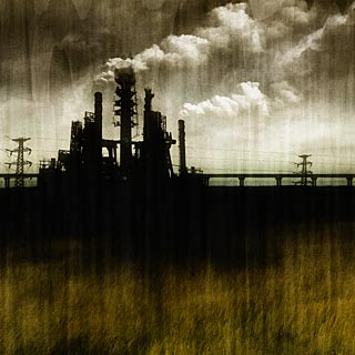 Sector 712 - Dark Landscape with Toxic Factory Death Metal Album Art Design