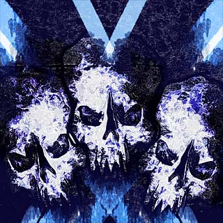 Warpaint - Abstract Evil Skulls Metal Band Album Artwork Design