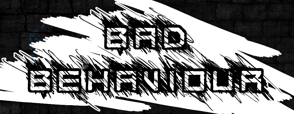 Bad Behaviour Scribble, Scratched, sketchy font design, badass, urban