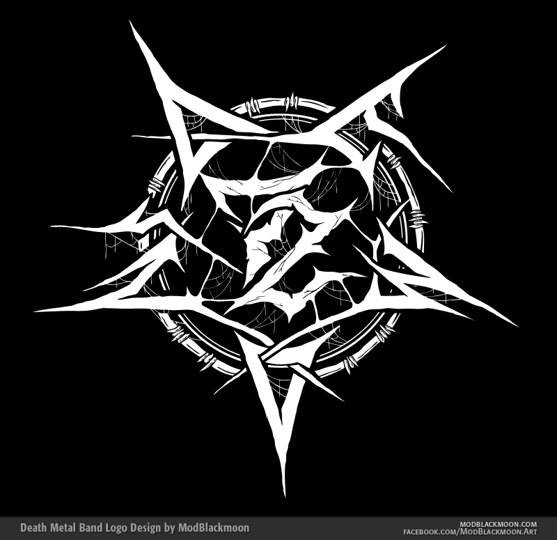 modblackmoon death metal  black metal band logo design Heavy Metal Band Names heavy metal band generator