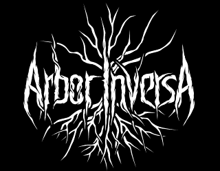 Arbor Inversa - Black Metal Band Logo Design, Round Sigil with Roots and Branches
