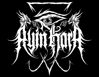 Ayin Hara - Black Metal Band Logo Design with Eye of Horus and Dragon