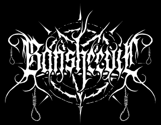 Bansheevil - True Black Metal Band Logo Design with Pentagram, Horns and Ropes