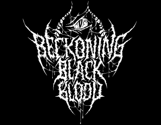 Beckoning Black Blood - Brutal Death Metal Band logo design