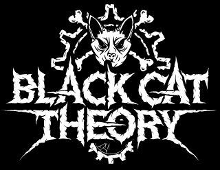 Black Cat Theory - Metal Band Logo Design with Zombie Cat Illustration