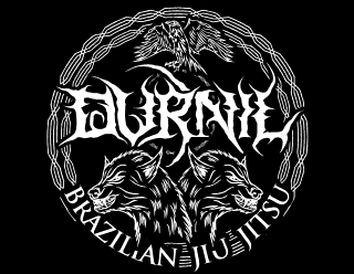 Death Metal Rounded Badge with Wolves for Fight Sport Club - Durnil