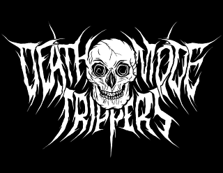 Death Mode Trippers - Death Metal Band Logo with Tripping Skull