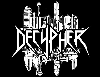 Decypher - Thrash Metal Band Logo Design with Ruined City