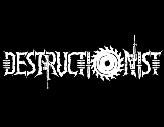 Destructionist - Thrash Metal Band Logo Design with Machine Guns and Saw Blade