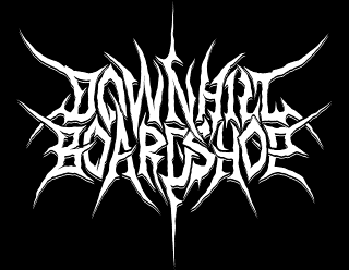 Downhill Broadshop - Death Metal style version of Clothing Design Brand Logo