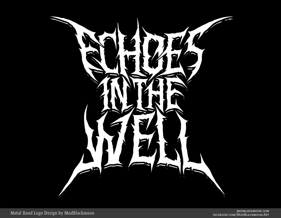 Echoes in the Well - Death Metal Logo Art
