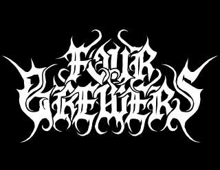 Four Brewers - Black Metal Brewery Logo Design