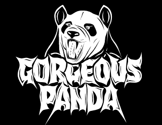 Gorgeous Panda - Metal Band logo design with angry Panda illustration