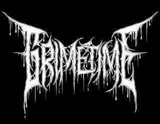 Grimetime - Old School Death Metal Logo Art with Outline
