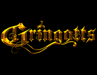 Gringotts - Heavy Metal Band Logo ornate golden Design by ModBlackmoon