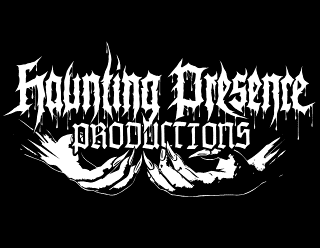Haunting Presence Productions - Black Metal Label Logo Design with Hands and Claws
