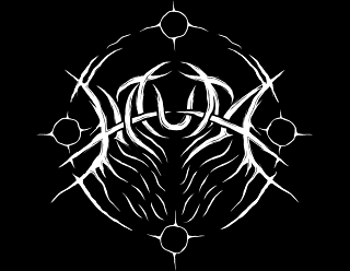 Hauta - Round Black Metal Band Logo Design Sigil