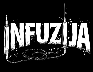 INFUZIJA - Legible illustrated metal band logo design