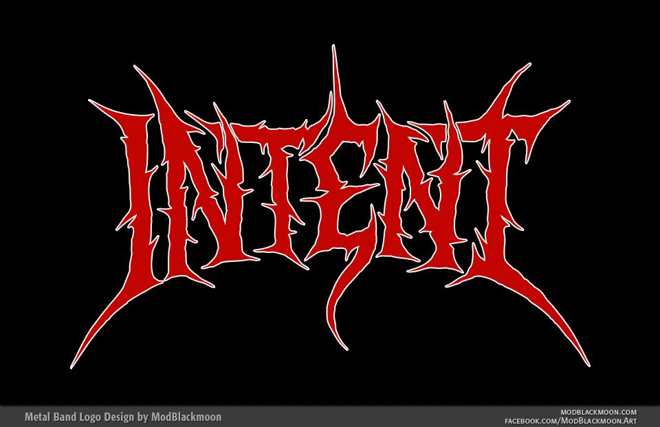 Intent - Death Metal Band Logo Design