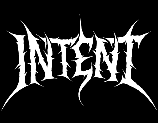 Intent - Legible Old School Death Metal Band Logo Design