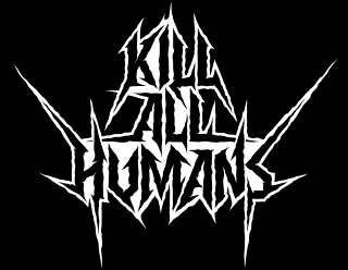 Kill All Humans - Thrash Metal Band Logo Design with Outline