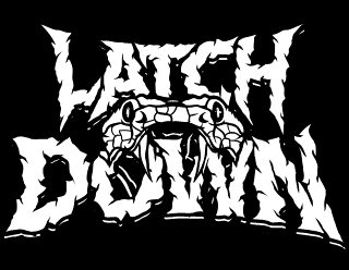 Latch Down - Colored Metalcore Band Logo Design with Snake