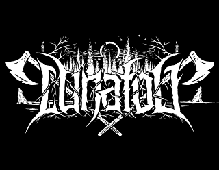 Lunafog - Pagan Black Metal Logo Design Art with Axes and Full Moon