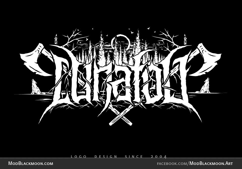 Black Metal Band Logo Design