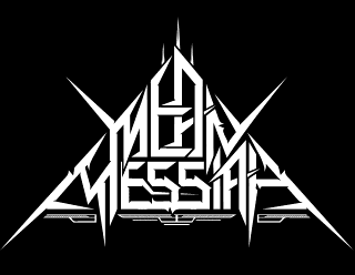 Mean Messiah - Death Thrash Metal Band Logo Design in Triangle Shape
