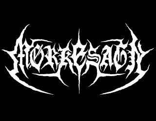 Black Metal Logo Design for Morkesagn with Hooks and Spikes