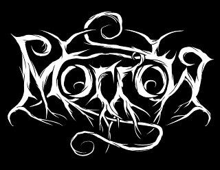 Morrow - Professional Black Metal Band Logo Design with Roots