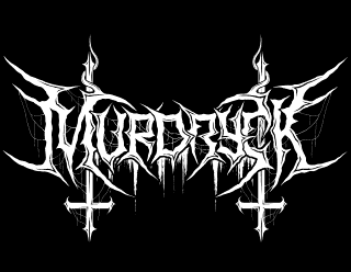 Murdryck - Black Metal Band Logo Drawing, Inverted Crosses and Spider Webs
