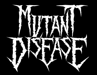 Mutant Disease - Raw Death Thrash Metal Band Logo Design