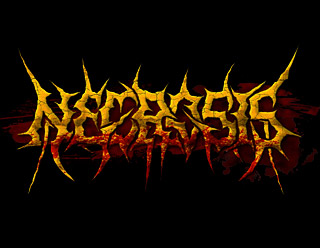 Necrosis - Death Metal Brutal Spiked Logo Drawing with Blood Smears