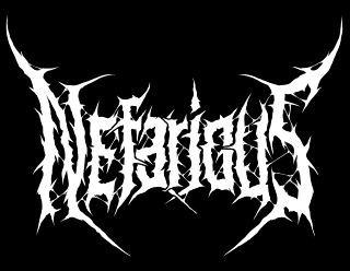 Nefarious - Death Metal band logo drawing