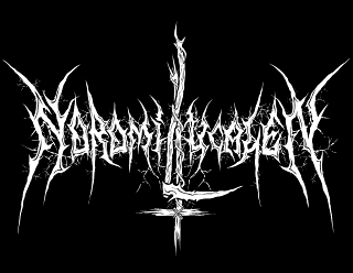 Noromi LucaleN - Raw Black Metal Band Logo Design with Scythe and inverted Cross