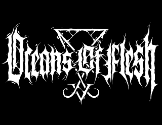 Oceans of Flesh - Occult Black Metal Band Logo Design with Sigil of Lucifer