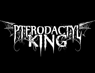 Pterodactyl King Band Logo Design with Bone Wings
