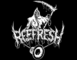 REEFRESH - Death Metal Band Logo Design with Grim Reaper