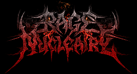 Rage Nucleaire Black Metal Logo Drawing in Apocalyptic style