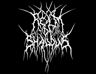 Realm of Shadows Black Metal Logo Design with long branches and roots