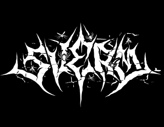 Sverm - Norwegian Punk Black Metal Band Logo Design with Insects, Spiders