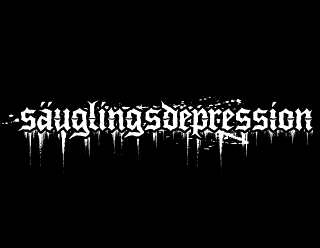 Sauglingsdepression - German Depressive Black Metal Band Logo Design