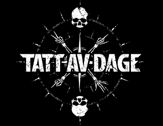 Tatt av Dage - Death Metal Logo Design with Compass Illustration