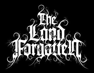 The Land Forgotten - Elegant Black Metal Band Logo Art