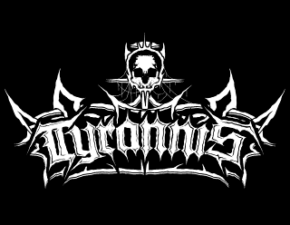 Tyrannis - Old School Black Metal Band Logo Design with Thorns and Skull