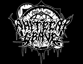 Whitecap Grave Metal Band Logo Drawing with mystic Symbol